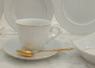Marie - Luise - porcelain line in white / gold