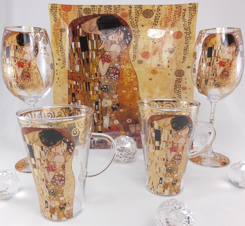 CARMANI - 1990 Gustav Klimt - Der Kuss  hell - Platzteller 30 x 30 cm