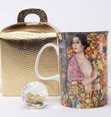 DELUXE by MJS Gustav Klimt -   Die  Tänzerin Kaffeetasse in Geschenkbox