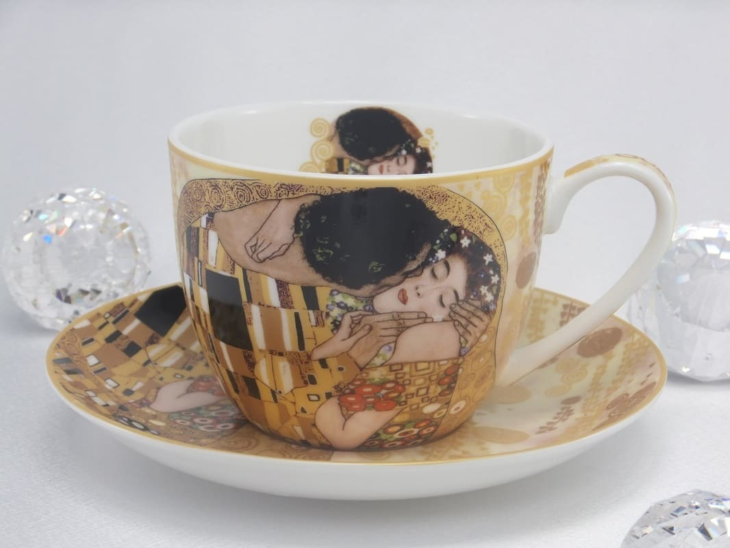 CARMANI - 1990 Gustav Klimt - The Kiss - Breakfast cup in gift box