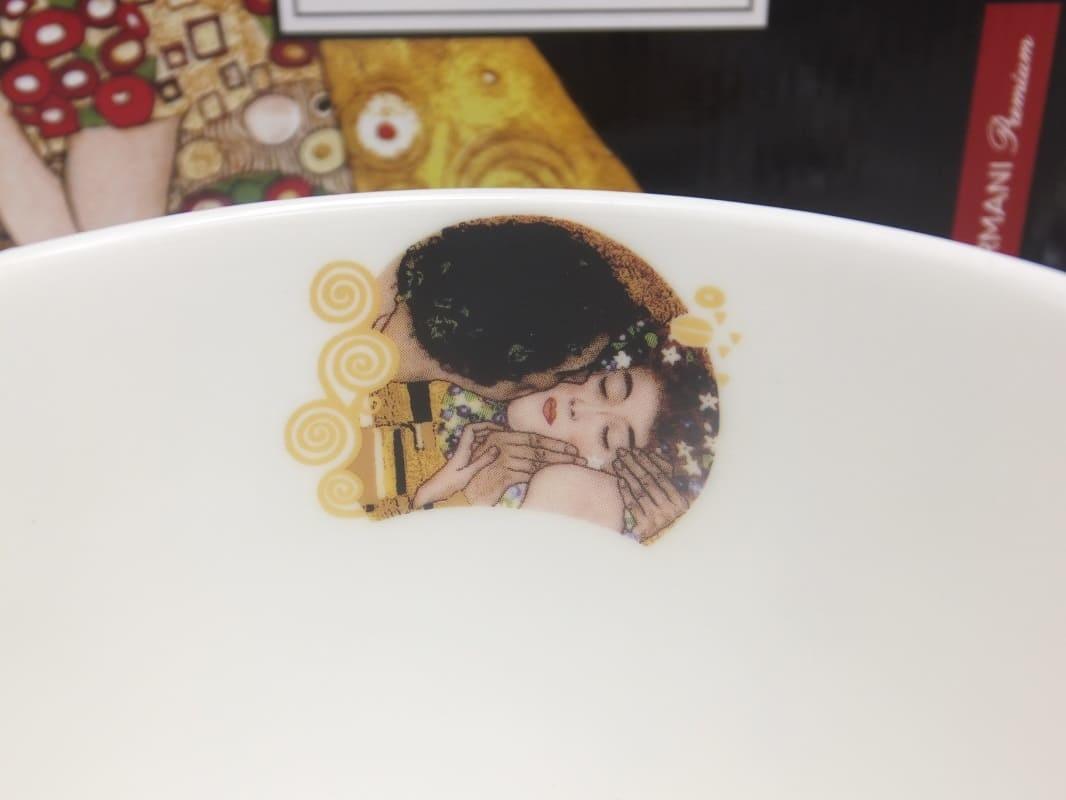CARMANI - 1990 Gustav Klimt - Der Kuss - Frühstücktasse in Geschenkbox