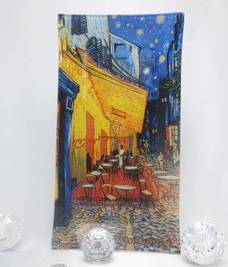 CARMANI - 1990 Van Gogh  - Night cafe - glass plates