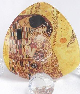 CARMANI - 1990 Gustav Klimt - Der Kuss  hell Glasschale