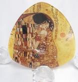 CARMANI - 1990 Gustav Klimt  Der Kuss hell Glasschale eckig