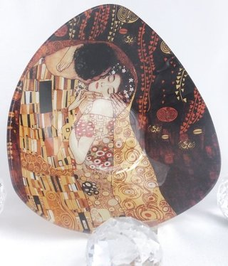 CARMANI - 1990 Gustav Klimt - Glasschale - Der Kuss