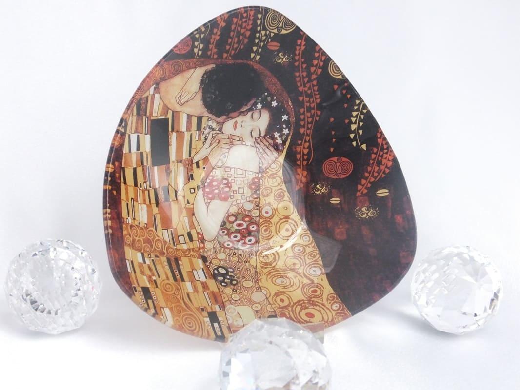 CARMANI - 1990 Gustav Klimt - Der Kuss dunkel -Glasschale