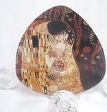 CARMANI - 1990 Gustav Klimt - The Kiss dark glass cup