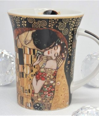 CARMANI - 1990 Gustav Klimt - The Kiss nero Coffee Mug X