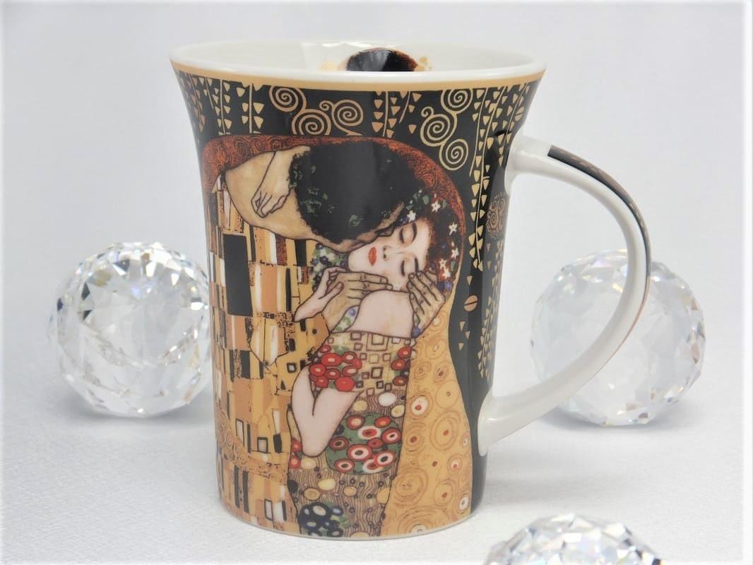 CARMANI - 1990 Gustav Klimt - Der Kuss  in Nero  Kaffeetasse X