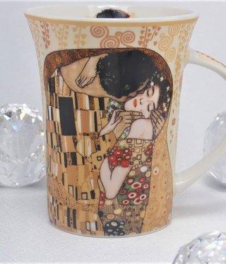 CARMANI - 1990 Gustav Klimt - Der Kuss ecru  - Kaffeetasse X