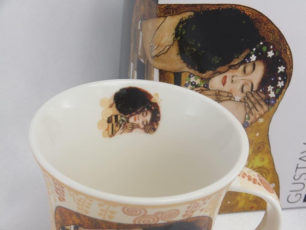 CARMANI - 1990 Gustav Klimt - Der Kuss  in Ecru  Kaffeetasse X