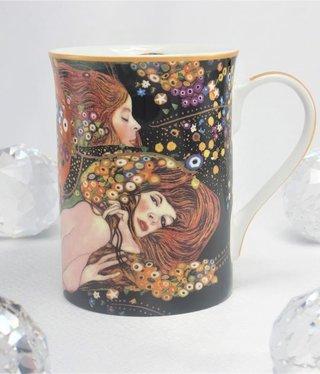DELUXE by MJS Gustav Klimt - Wasserschlangen -  Kaffeetasse