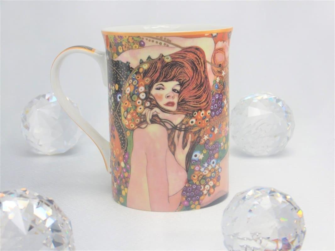 DELUXE by MJS Gustav Klimt -   Die  Wasserschlangen Kaffeetasse in Geschenkbox
