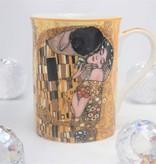 CARMANI - 1990 Gustav Klimt  - Der Kuss - Ivory  Kaffeetasse in Geschenkbox