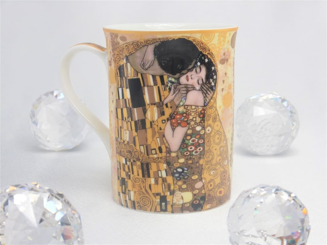 CARMANI - 1990 Gustav Klimt - The Kiss - Ivory coffee cup in gift box