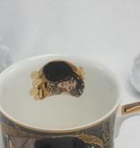 CARMANI - 1990 Gustav Klimt  - Der Kuss - nero Kaffeetasse in Geschenkbox