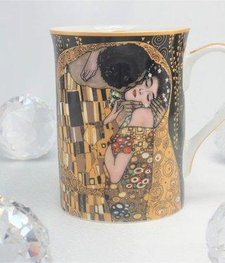 CARMANI - 1990 Gustav Klimt - Der Kuss Nero  - Kaffeetasse