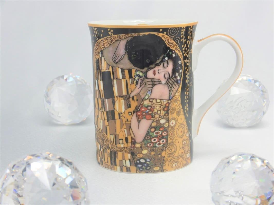 CARMANI - 1990 Gustav Klimt - The Kiss - nero coffee cup in gift box