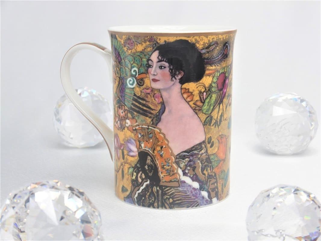 DELUXE by MJS Gustav Klimt -   Dame mit dem Fächer Kaffeetasse in Geschenkbox