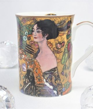 DELUXE by MJS Gustav Klimt - Dame mit dem Fächer  -  Kaffeetasse