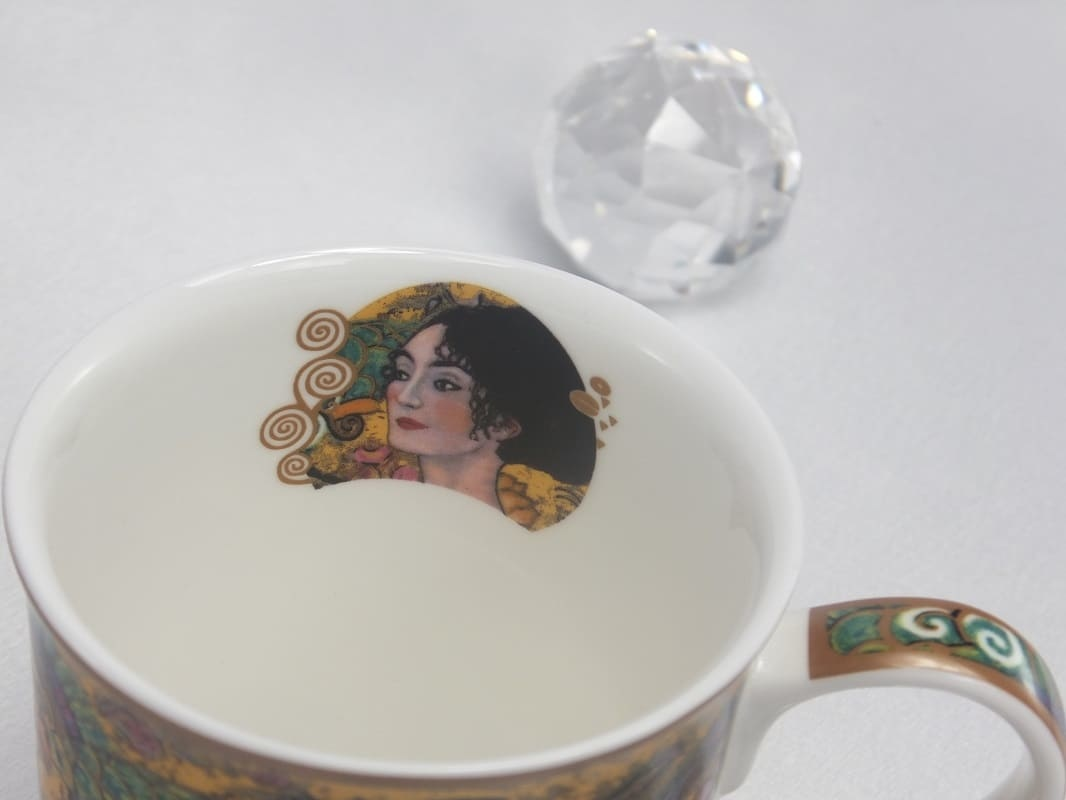 DELUXE by MJS Gustav Klimt - Lady with fan Coffee cup in gift box