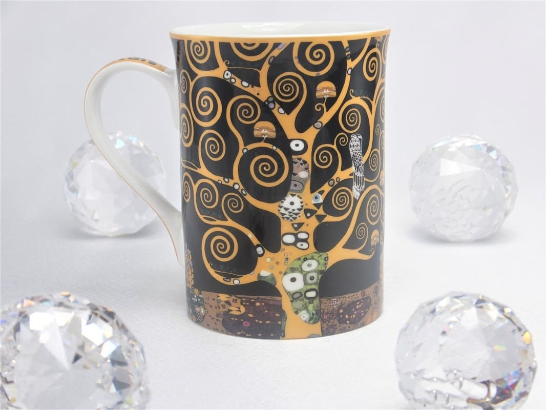 DELUXE by MJS Gustav Klimt - Tree of Life coffee cup in gift box