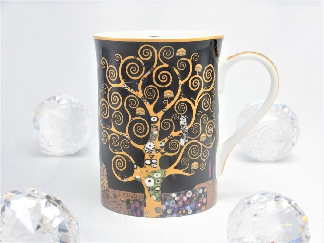 DELUXE by MJS Gustav Klimt  - Lebensbaum   Kaffeetasse in Geschenkbox