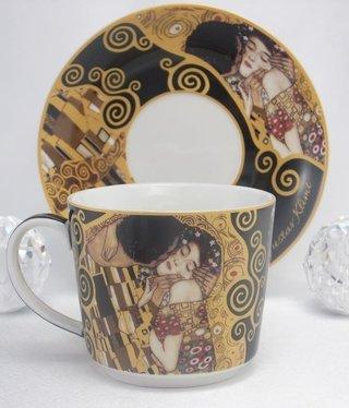 DELUXE by MJS Gustav Klimt - Der Kuss  - Kaffeetasse Set
