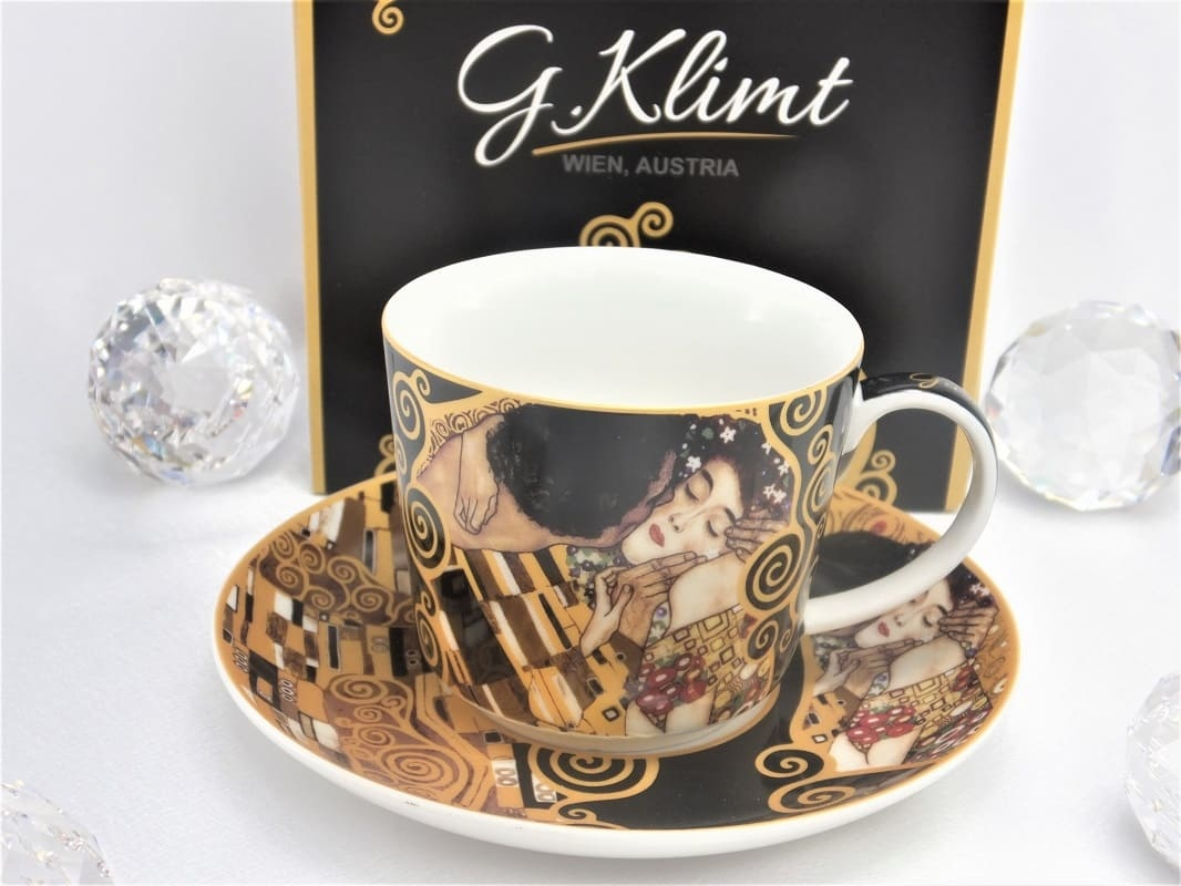 DELUXE by MJS Gustav Klimt - The Kiss Coffee Cup Set in Gift Box