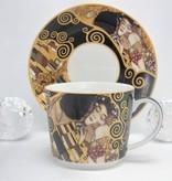 DELUXE by MJS Gustav Klimt - Der Kuss- Kaffeetasse Set in Geschenkbox