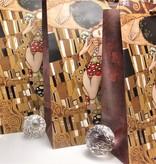 CARMANI - 1990 Gustav Klimt - The Kiss / Adele - Gift bag S in brown