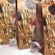 CARMANI - 1990 Gustav Klimt - The Kiss / Adele - Gift bag M in brown