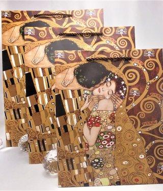 CARMANI - 1990 Gustav Klimt - Geschenktasche  XL - Adele / Der Kuss