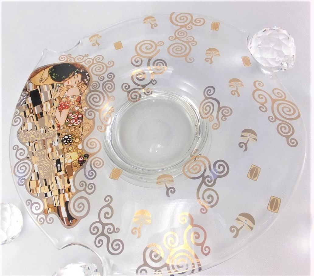 CARMANI - 1990 Gustav Klimt - The Kiss - Bowl I / Glass Bowl - small