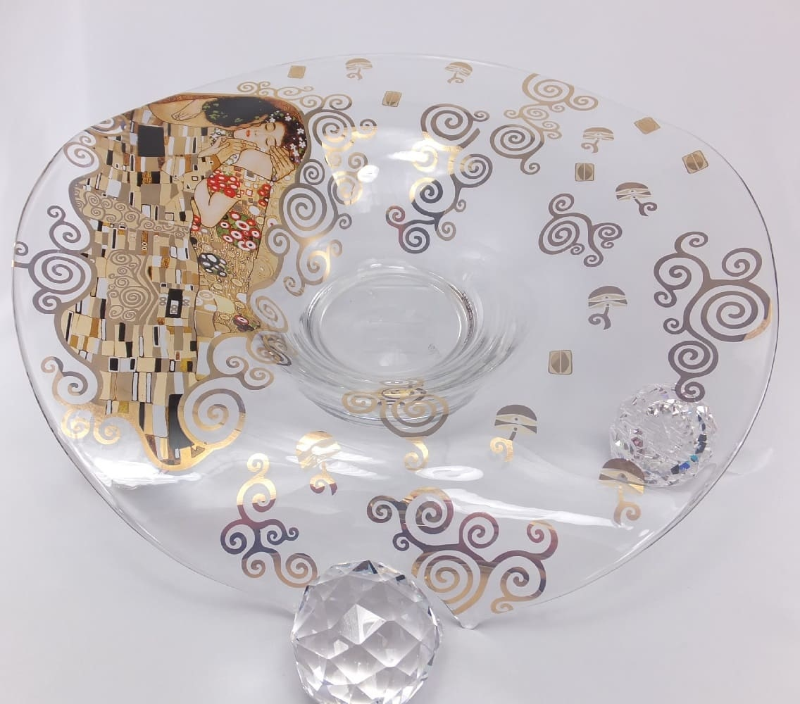 CARMANI - 1990 Gustav Klimt - The Kiss - Decoration Bowl / Glass Bowl