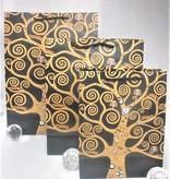 CARMANI - 1990 Gustav Klimt - Lebensbaum - Geschenktasche S in Nero