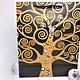 CARMANI - 1990 Gustav Klimt - Tree of Life - Gift bag M in Nero
