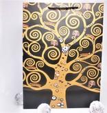 CARMANI - 1990 Gustav Klimt - Lebensbaum  / Der Kuss - Geschenktasche XL in Nero