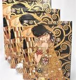 CARMANI - 1990 Gustav Klimt - Tree of Life / The Kiss - Gift bag XL in Nero