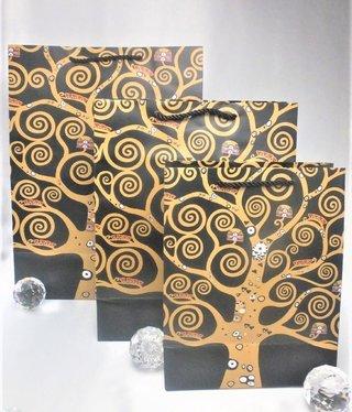 CARMANI - 1990 Gustav Klimt - Geschenktasche  XL - Lebensbaum / Der Kuss