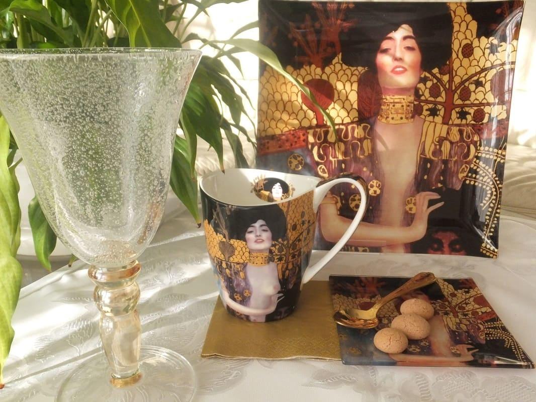 CARMANI - 1990 Gustav Klimt - Judith - Glass plate 25 x 25 cm