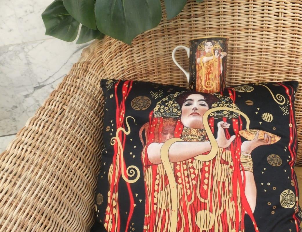 CARMANI - 1990 Gustav Klimt - Hygieia - Cushion 45 x 45 cm