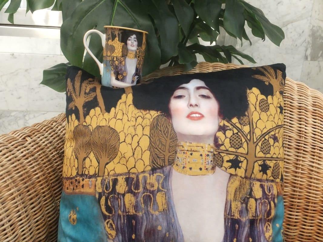 CARMANI - 1990 Gustav Klimt - Judith  - Kissen 45 x 45 cm