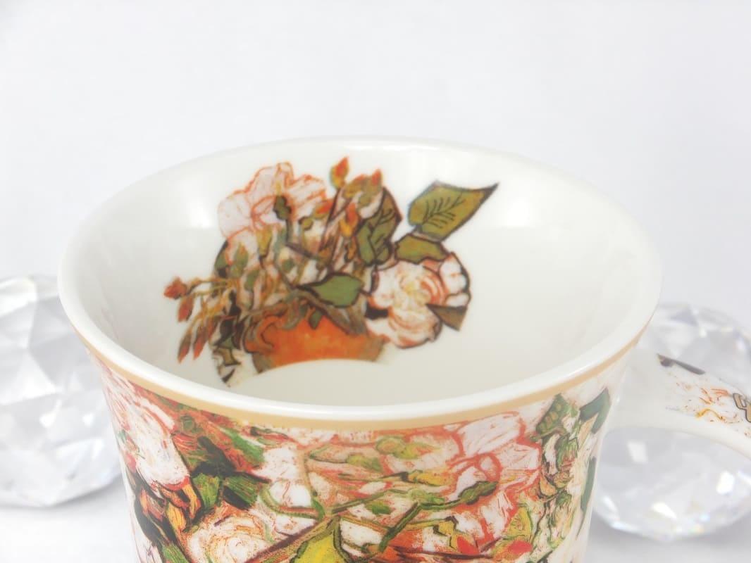 CARMANI - 1990 Vincent van Gogh - Rosen-Kaffeetasse in Geschenkbox