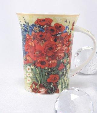 CARMANI - 1990 Van Gogh - Margeriten und Mohnblumen -Kaffeetasse X