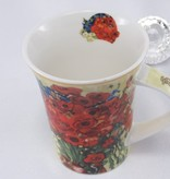 CARMANI - 1990 Vincent van Gogh - daisies and poppies - coffee cup in gift box