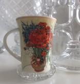 CARMANI - 1990 Vincent van Gogh - Margeriten und Mohnblumen - Kaffeetasse in Geschenkbox