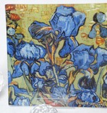CARMANI - 1990 Vincent van Gogh - Glass plate - 13 x 13 cm -Irises