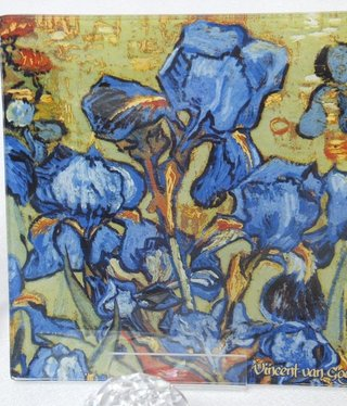 CARMANI - 1990 Van Gogh - Irises - glass plate