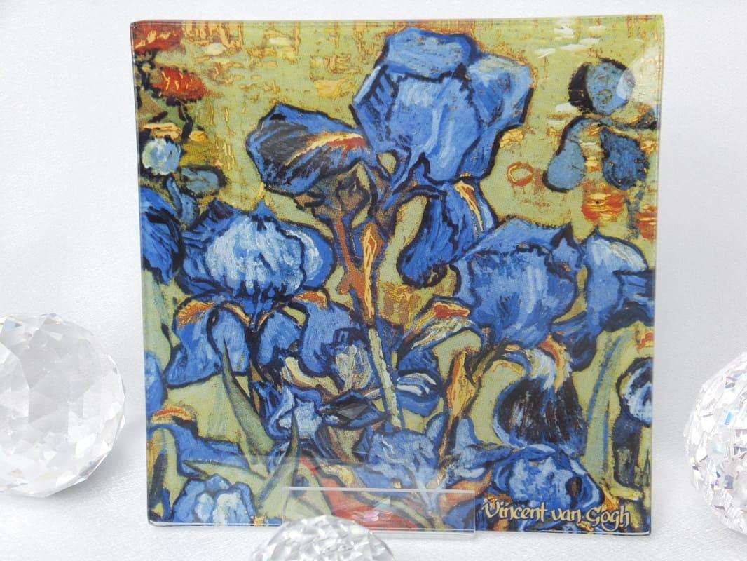 CARMANI - 1990 Vincent van Gogh - Glasteller   - 13 x 13 cm -Irises